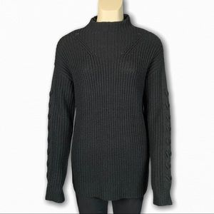 Black Long Sleeve Knit Sweater by Everly
